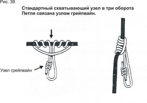 связанной узлом грейпвайн.